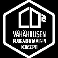 Vähähiilisen rakentamisen konsepti logo
